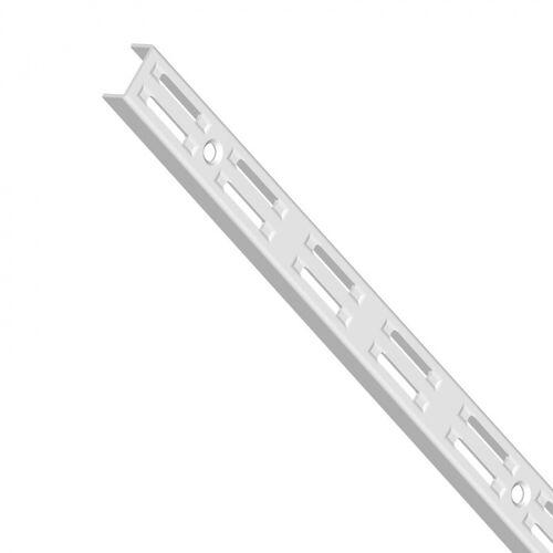 Element System Steg mit zweireihiger lochung, 1000 mm, weiß