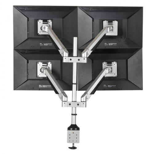 B2B Partner Monitorhalter hinten der tischplatte, 4 monitoren