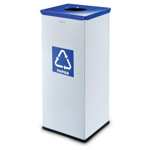 Alda Mülleimer für mülltrennung, 50 l, silberfarben, papier