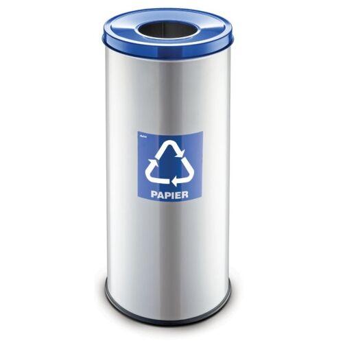 Alda Mülleimer für mülltrennung, 45 l, silberfarben, papier