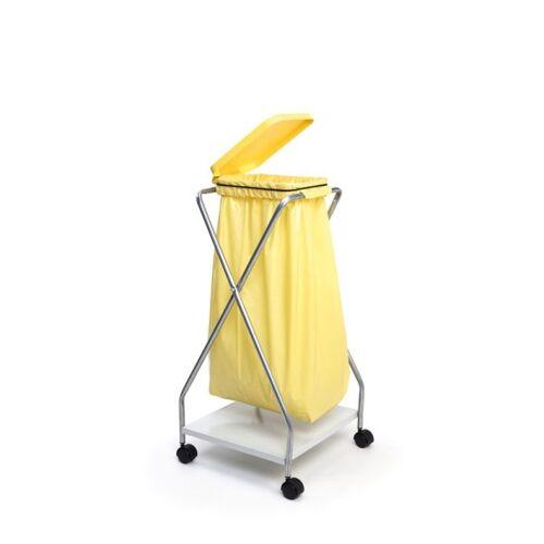B2B Partner Fahrbarer ständer für 1 sack 70/120 l, gelb 440 x 480 x 930 mm
