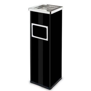 Alda Abfallbehälter mit ascher und innenbehälter, 22 liter, schwarz