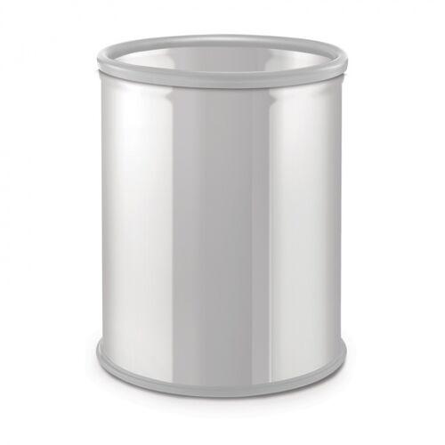Alda Mülleimer ohne deckel, papierkorb, 7 liter, weiß