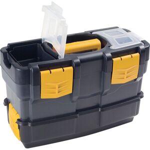 Artplast Kunststoffkoffer für werkzeuge mit zusatzbox 350x170x230 mm