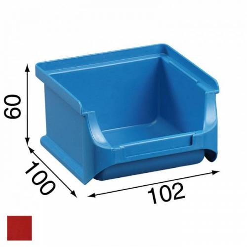 Allit Kunststoffboxen plus 1, 102 x 100 x 60 mm, rot, 30 stk.