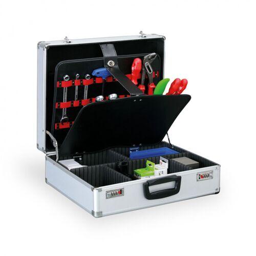 B2B Partner Werkzeugkoffer mit innenplatten und zahlencodeschloss