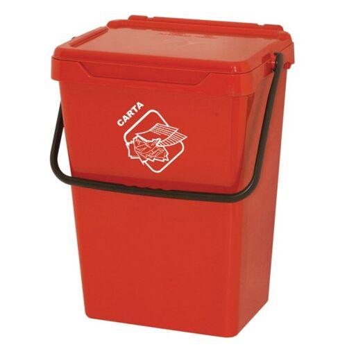 Artplast Kunststoffmülleimer, rot, 35 l