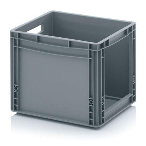 AUER Kunststoffkisten mit öffnung, 400 x 300 x 320 mm