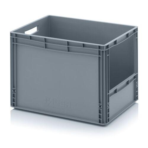 AUER Kunststoffkisten mit öffnung, 600 x 400 x 420 mm