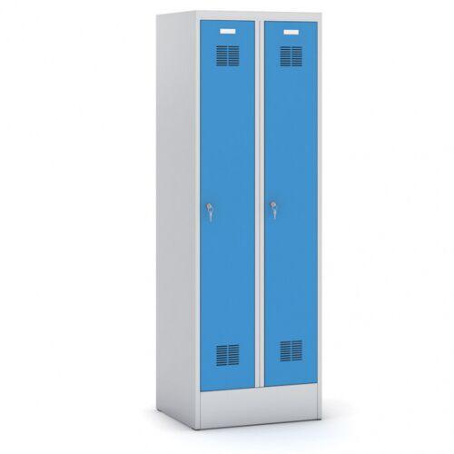 B2B Partner Zerlegbare metall kleiderschrank, zerlegt, blaue tür,