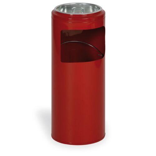 MARS Außenaschenbecher aus metall 10 liter, rot