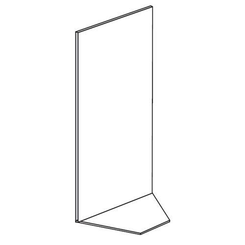 B2B Partner Verkaufsregale - eckregale, glatt, 1600 x 1000 x 500 mm