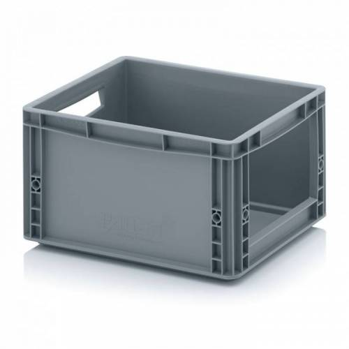 AUER Kunststoffkisten mit öffnung, 400 x 300 x 220 mm