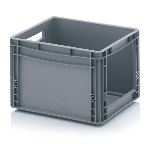 AUER Kunststoffkisten mit öffnung, 400 x 300 x 270 mm