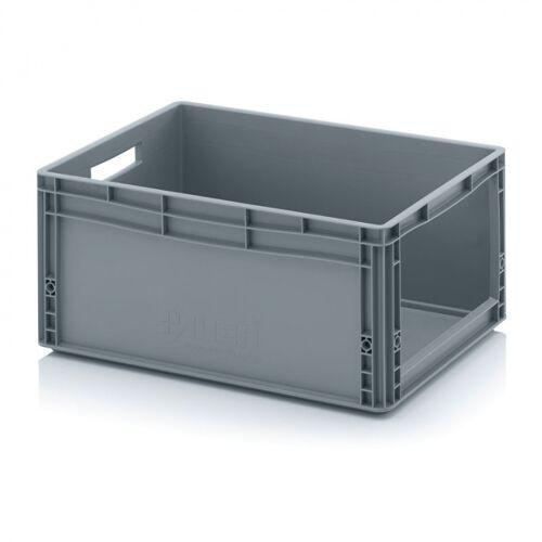 AUER Kunststoffkisten mit öffnung, 600 x 400 x 220 mm