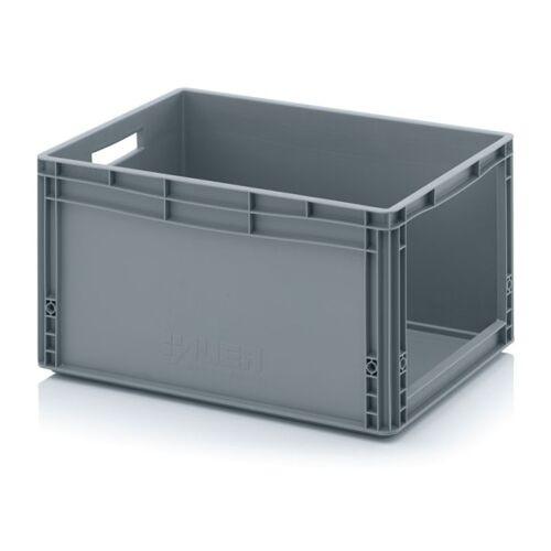 AUER Kunststoffkisten mit öffnung, 600 x 400 x 320 mm