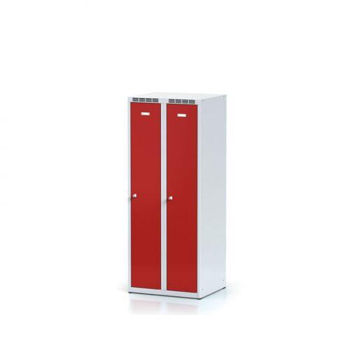 Alfa 3 Metallspind, rote tür, zylinderschloss