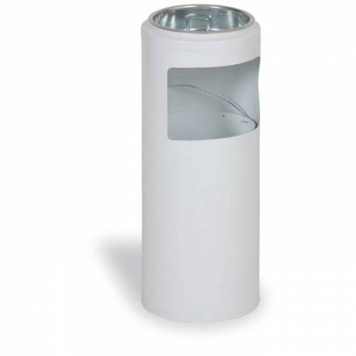 MARS Außenaschenbecher aus metall 10 liter, weiß
