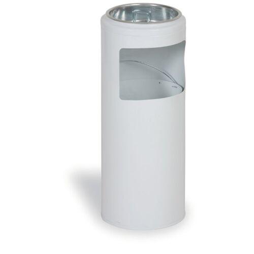 MARS Außenaschenbecher aus metall 20 liter, weiß