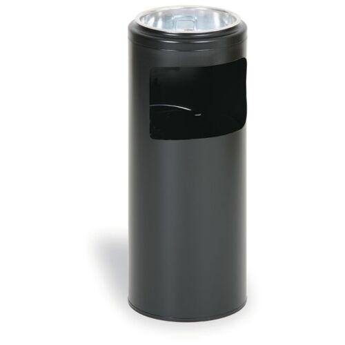 MARS Außenaschenbecher aus metall 10 liter, schwarz