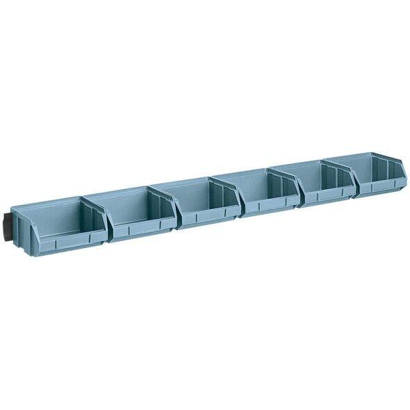 Artplast Stahlleisten mit kunststoffboxen, 6x box 100 x 95 x 50 mm