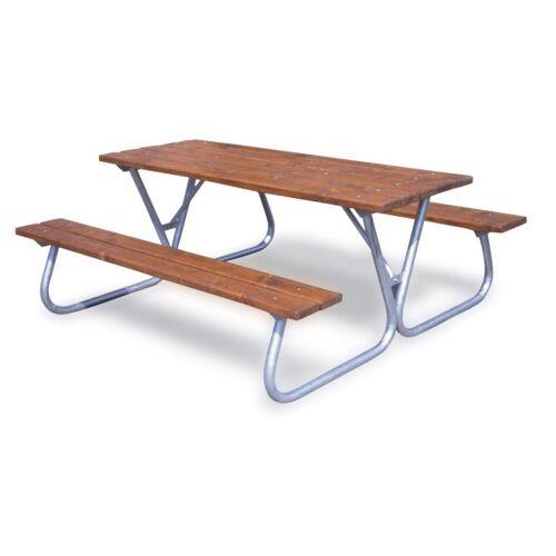 B2B Partner Außentisch mit sitzbänken
