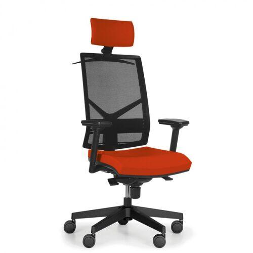 Antares Bürostuhl mit kopfstütze omnia, orange