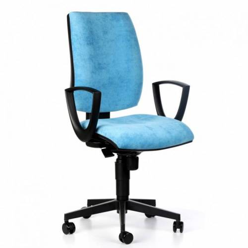 Antares Bürostuhl figo, synchronmechanik, blau