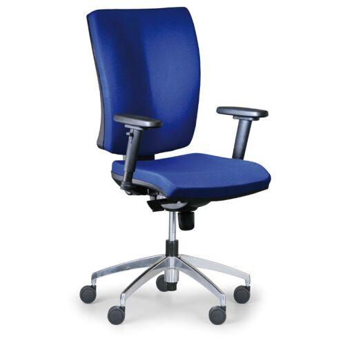 Antares Bürostuhl leon plus, blau, stahlkreuz