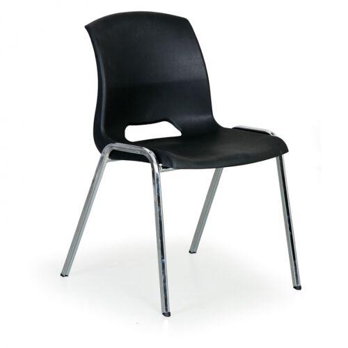 B2B Partner Stapelbarer stuhl cleo, schwarz
