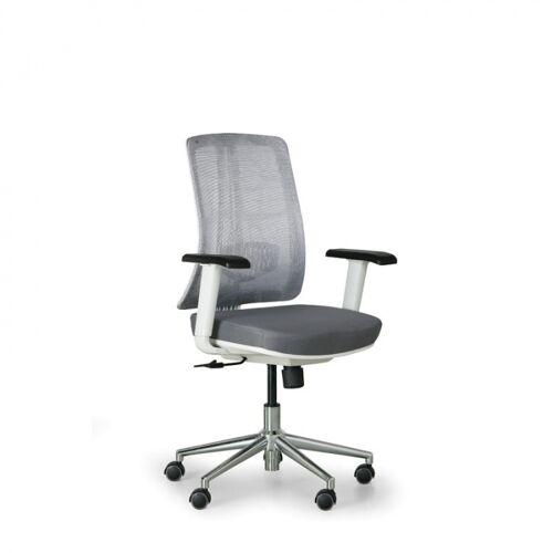 B2B Partner Bürostuhl human, weiß/grau, stahlkreuz