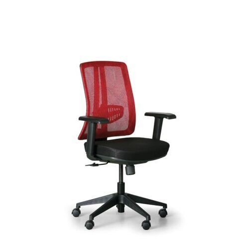 B2B Partner Bürostuhl human, schwarz/rot, kunststoffkreuz