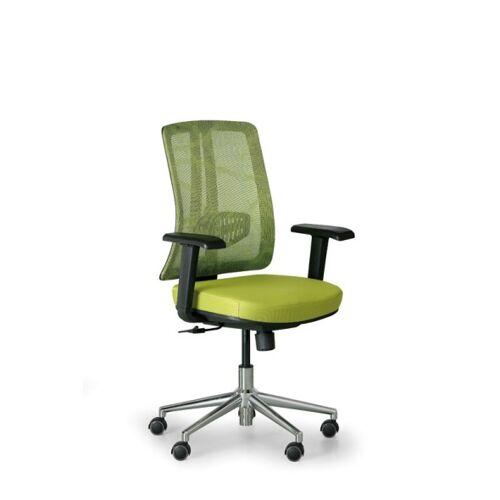 B2B Partner Bürostuhl human, schwarz/grün, stahlkreuz