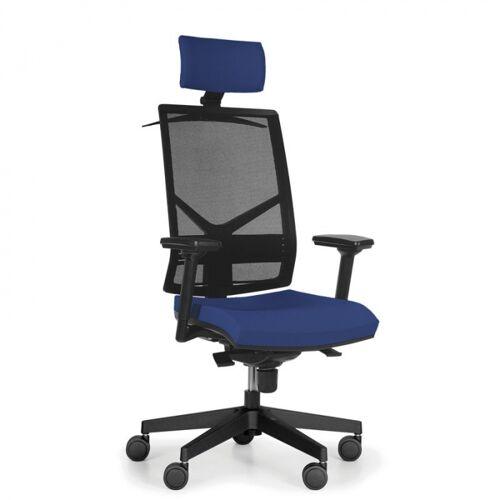 Antares Bürostuhl omnia mit kopfstütze, blau