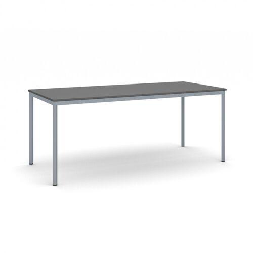 B2B Partner Esstisch, anthrazitplatte 1800 x 800 mm, dunkler sockel grau