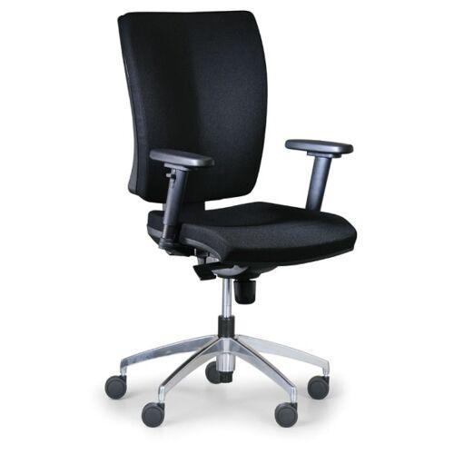 Antares Bürostuhl leon plus, schwarz, stahlkreuz