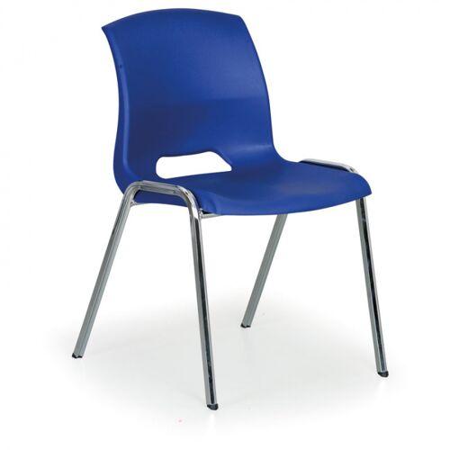 B2B Partner Stapelbarer stuhl cleo, blau