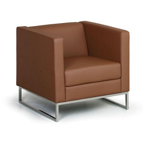 B2B Partner Sessel cube, braun