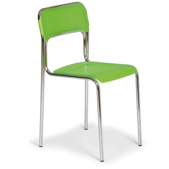 B2B Partner Esszimmerstuhl aus kunststoff aska, grün, chromfüße