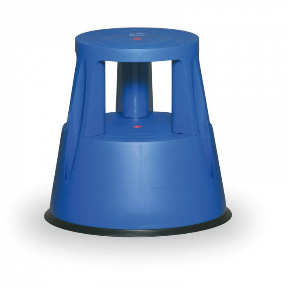 B2B Partner Kunststoff-tritthocker, blau