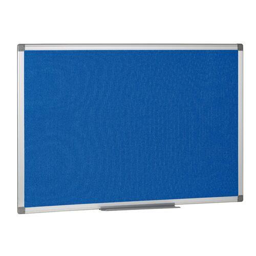 B2B Partner Textil-pinnwand, blau, 900 x 600 mm