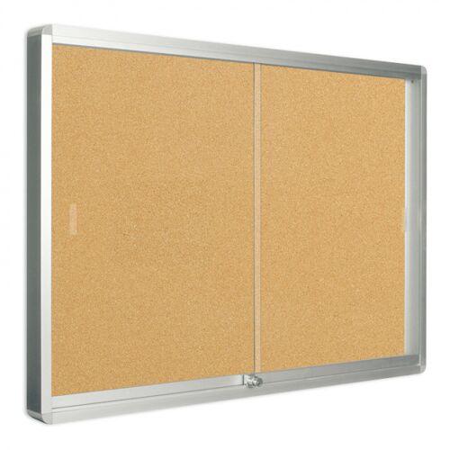 Bi-Office Vitrine mit schiebetüren, kork, 967 x 706 mm