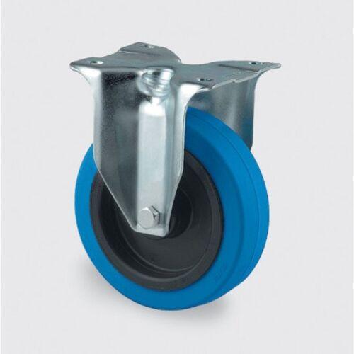 TENTE Transportrad mit blauer lauffläche, 125 mm