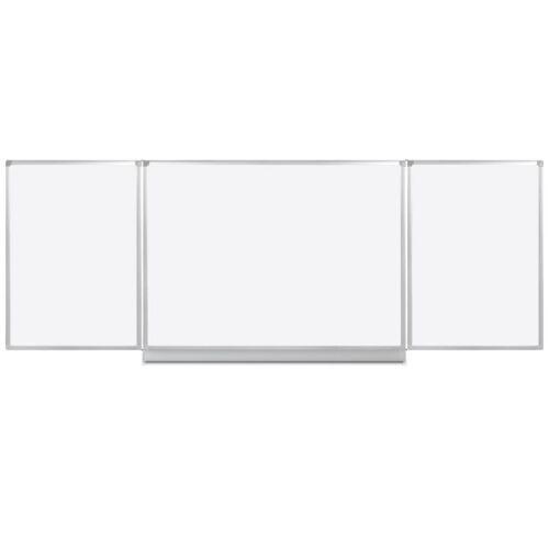 B2B Partner Whiteboard klapptafel, 120 x 400 cm