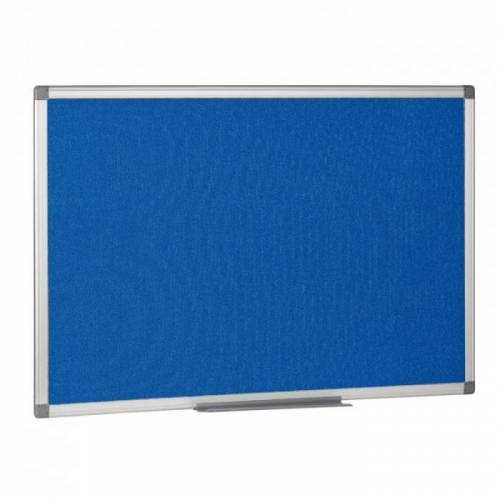 B2B Partner Textil-pinnwand, blau 1200x900 mm
