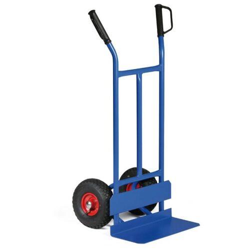B2B Partner Stahl-sackkarre mit reifenschutz, 200 kg, lufträder