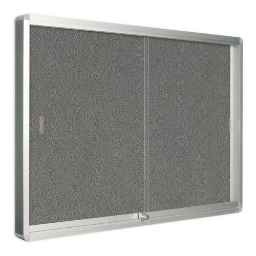Bi-Office Vitrine mit schiebetüren, textil, 967 x 706 mm