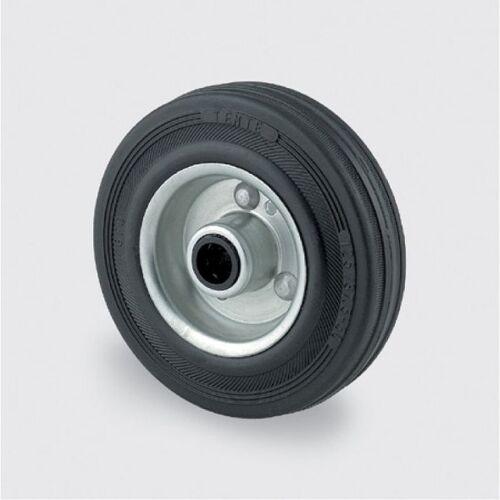 TENTE Einzelrad, metallscheibe, schwarzer gummi, 125 mm