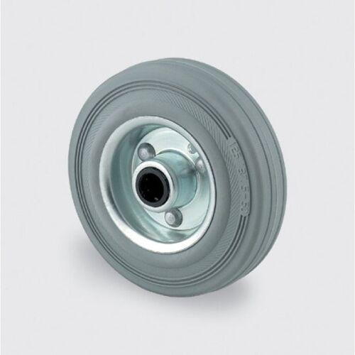 TENTE Einzelrad, metallscheibe, grauer gummi, 125 mm