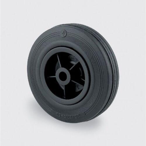 TENTE Einzelrad, kunststoffscheibe, schwarzer gummi, 160 mm